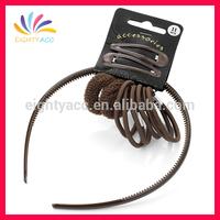 Wholesale fashion school design hair elastic band