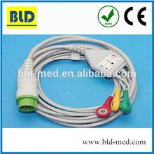 Compatible 3 leadwire fukuda ECG cable for 7100,7200