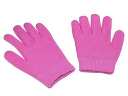 spa massager gloves Gel gloves cotton material dark pink color