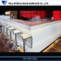 Barra de refrigerados contador/rojo barra de corian top/mármol mesa de bar