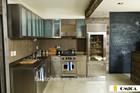 modern stainless steel european kitchen cabinet
