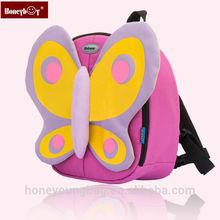 New design pink bag little girl kids backpack butterfly