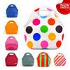 custom made insulated foldable stripe kids lunch bags neoprene