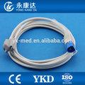 Compatible con hp pediátrica clip de dedo spo2 sonda/del sensor, 8 pines del conector din, médico de tpu cable