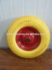 4.00-8 small pu foam wagon wheels and axle