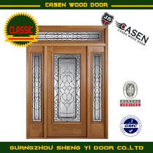 exterior fiberglass wooden door with side lites