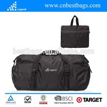 New style hot sale cute design foldable black travel bag