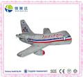 suave de la felpa de las aerolíneas american avión de juguete