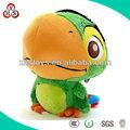 Bonito recheado personalizado Mini papagaio de pelúcia que fala brinquedo, Macio Talking Parrot pelúcia