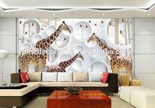 metal craft designs wall decors 3d giraffe picture wall mural