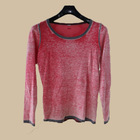 2014 new style women winter fashion 100%cotton pullover sweater with elbow patch/autumn spring sweater/OEM service