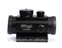 KV2-012 Dual-use 1x40 RD Illuminated Red Green Dot Sight Hunting Sight 5 MOA For 11mm & 20mm Weaver Rail