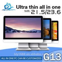 High Performance G13 23.6 inch LED Core i7-4770s quad core mini computer windows xp all in one pc support WIFI mini computer