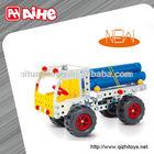 Adorable kid block toy,metal toy truck,educational diy 3d toys
