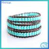 Haosiqi Fashion 2014 Antique Blue Turquoise Round Bead Bracelet
