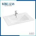 Lijie Bathroom Ceramic thin sink rectangular cabinet wash hand basin A80
