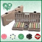 500pcs poker chips set with plastic case