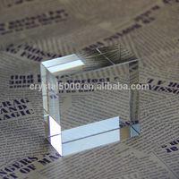 k9 crystal blank clear cube crystal raw material
