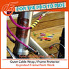 5mm Diameter Spiral Type Bicycle Accessory Frame Protector