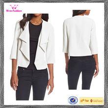 Latest blazer design women fashion stretch ruffle blazers