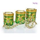 3pcs slant glass storage jar set/glass spray bottle
