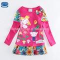 ( f4516) 2014 nouveau style shirts filles vêtements doux avec l'impression de fleurs fabricant de la chine