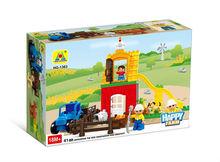 high quality happy farm building blocks toy for kids