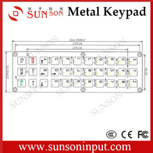 Waterproof,vandalproof metal keypad with one button membrane switch
