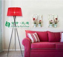 Alibaba standing floor lamp Modern Best Selling 3 legs Wooden Tripod Floor Lamp Fancy Foscarini fabric floor lamp from Zhongshan
