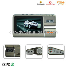 dual lens car dvr camera with 3.0 inch LCD screen, 720P digital car camera recoder with GPS