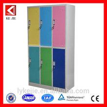 Lockable euro standard fashionable gym metal 6 door locker folding wardrobe in mumbai cheap 6 door steel wardrobe cabinet