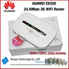 Cheapest New Original Unlock HSPA+ 21.6Mbps HUAWEI E5330 Portable 3G WiFi Router,3G Router,3G Mobile WiFi Hotspot