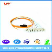 MM SC Hair Pigtail Fiber Optic Bundle Pigtail