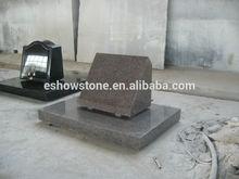 granite tombstone, qilu red granite American tombstone
