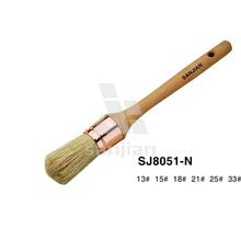 SJ8051-N Round handle paint brush White bristle