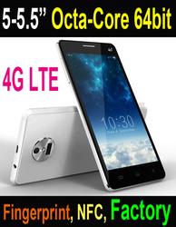 "2015 5"" IPS Octa-core 4G mobile phone with Fingerprint NFC phone"