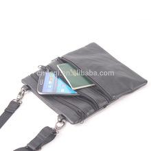 New Mens Bag Messenger Leather Travel Wallet Passport Purse Phone Case