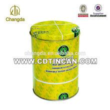 CMYK printing round biscuit packaging metal tin box CD-053-1