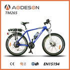 double disc brakes max load 100kg mountain electric bicycle AODESON TM265 with 36v/9ah lithium battery