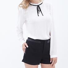 Encargo de lujo - de la gasa - tops de seda blanca blusas para mujeres