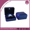 Blue handmade engagement metal ring box led light (WH-3216-RI-2)