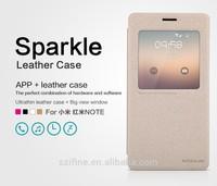 Nillkin Sparkle Series Smart Windows Leather Case For RedMi Note