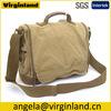 1212 Popular Color Khaki Vintage Casual Canvas Long Strap Shoulder Tote Bags Messenger Bags