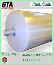 Bopp tapes 48mic 1615x6000 from 3M sub bopp tape jumbo roll factory
