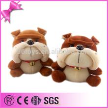 Cute gift bulldog plush stuffed dog, bulldog wholesale