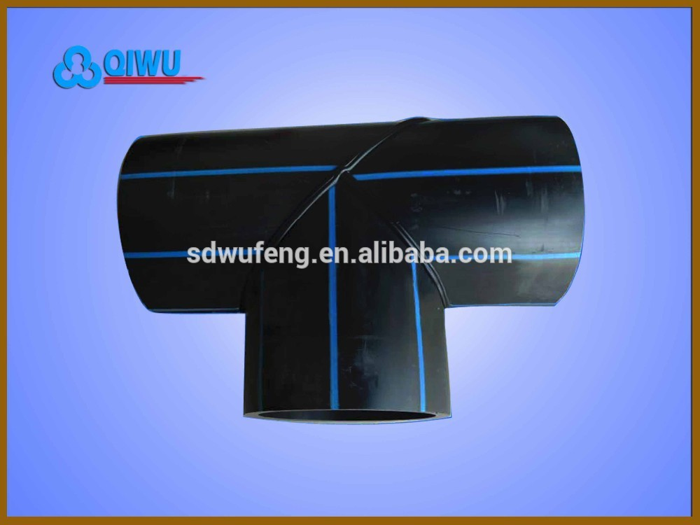 Plastic HDPE pipe fitting welding equal tee for water supply, View ...