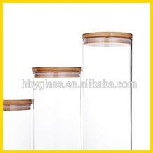 Cork, bamboo cover glass bottles, jars