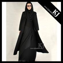 2015 New arrival fancy modern muslim women's coat cashmere winter coat