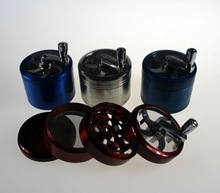 4 layers Hand Grank Smoking Grinder Multi-colors Alloy Herb Grinder Factory Direct Selling