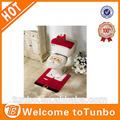 2014 décoration de noël / ornement / cadeau de Santa couverture de siège de toilette et de carpettes Set stock